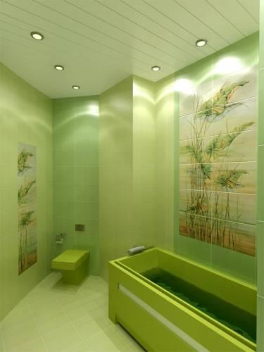 Интерьер зеленая комната